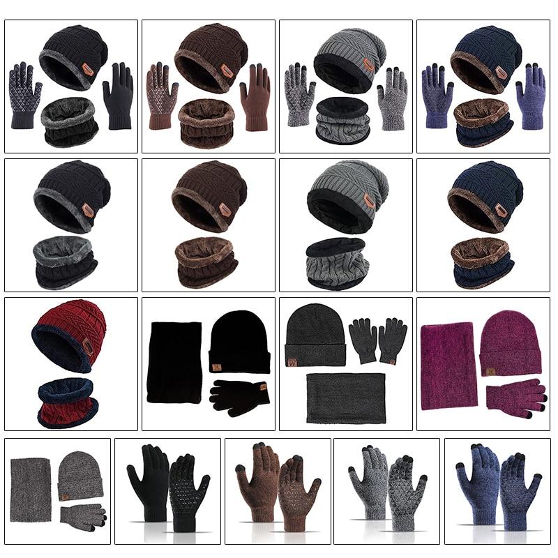 Chapeau écharpe gants ensemble unisexe hiver