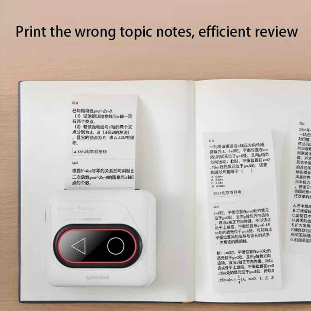 Xiaomi Mijia Youdao G4 Saku Portabel Printer Thermal Bluetooth Printer HD 306 DPI Mini Nirkabel Termal Gambar Foto Printer