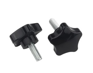 10pcs M4 M5 M6 M8 M10 M12 Thread Star Shaped Head Thread Clamping Screw Bolt Knob For Industry Equipment Plastic Carbon Steel