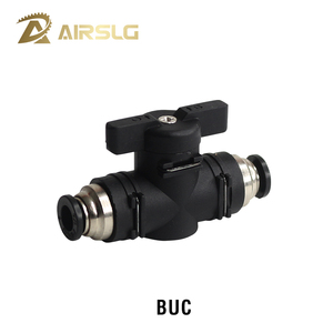 BUC BUL pipe valve hand valve stop valve pneumatic switch quick Push in fitting valve for 4MM 6mm 8MM 10mm 12mm OD Pipe hose()