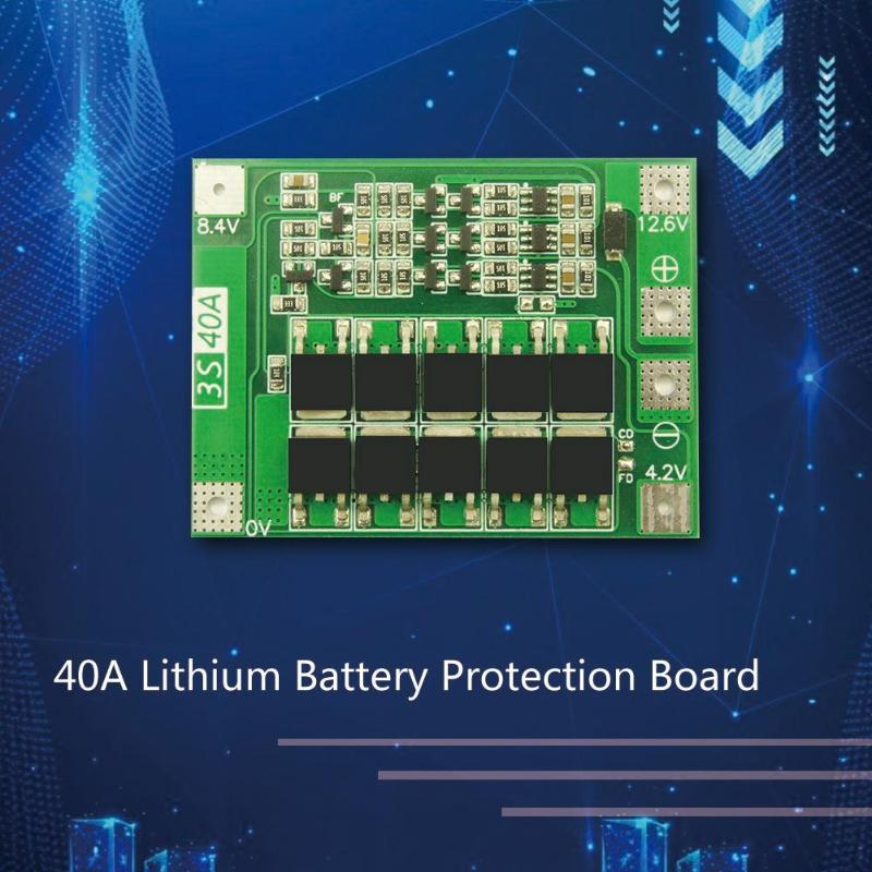 3S 40A BMS Lithium Battery Protection Board Enhanced Balance version 18650 Li-ion battery charger Circuit board PCB
