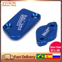 Front & Rear Brake Reservoir Fluid Cover For YAMAHA YZ125 YZ250 YZ450F YZF450 08-17 YZ250F YZF250 07-17 YZ250X YZ250FX