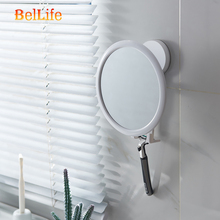 Small 360 Rotation Bathroom Cosmetic Mirror Suction Cup Bath Mirrors Shaving Fogless Shower Anti-Fog Make Up