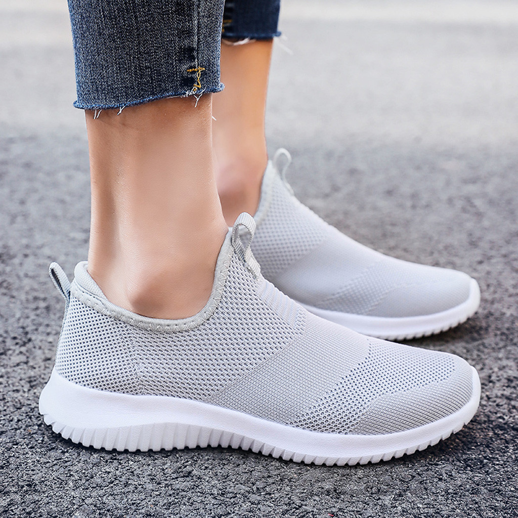 US $14.91 48% OFF SAGACE Couple Sneakers men's Sport Shoes Fashion Mesh Round Cross Straps Flat Sneakers women's Running Shoes Breathable A30910 in