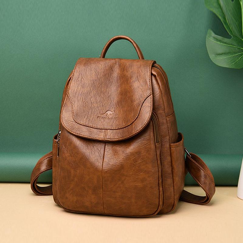 Luxury Fashion High Quality Backpack Women Soft Waterproof Bagpack Travel Backpacks School Bags Plecak Back Pack Mochila Escolar