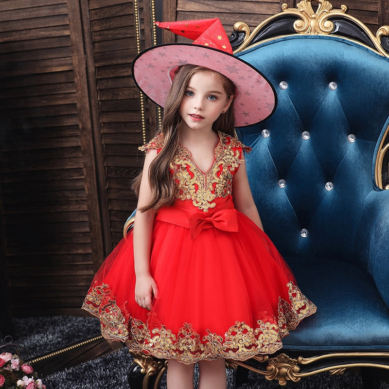Elegant Kid Girl High Low Sequin Satin Tutu Party Dress Evening Formal Prom Gown