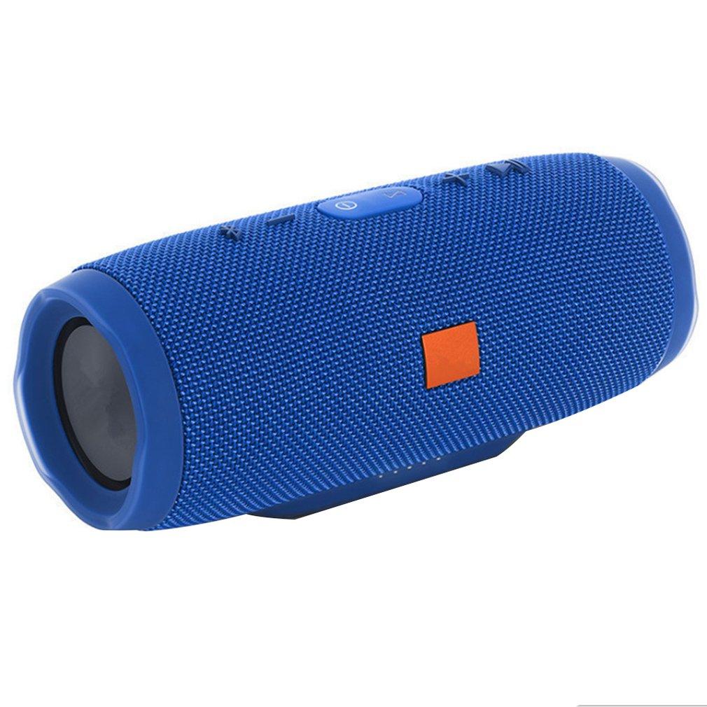 40W Portable Wireless Speaker Waterproof Stereo Bass Loud Usb/Aux Mp3 Double Bass Vibration Micro Usb Blue