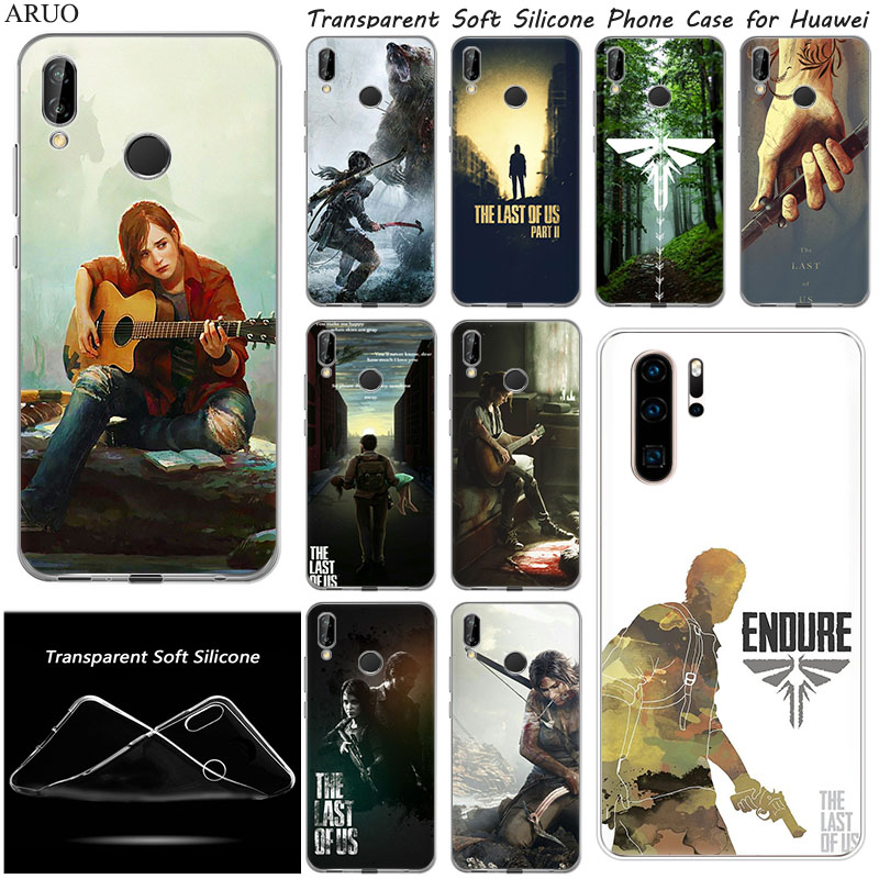 Soft TPU Phone <font><b>Case</b></font> for <font><b>huawei</b></font> Y7 2020 Y3 <font><b>Y6</b></font> Y5 Lite Y9 prime 2019 <font><b>2018</b></font> The Last of Us Part <font><b>Silicone</b></font> mobile Back shell Capa image