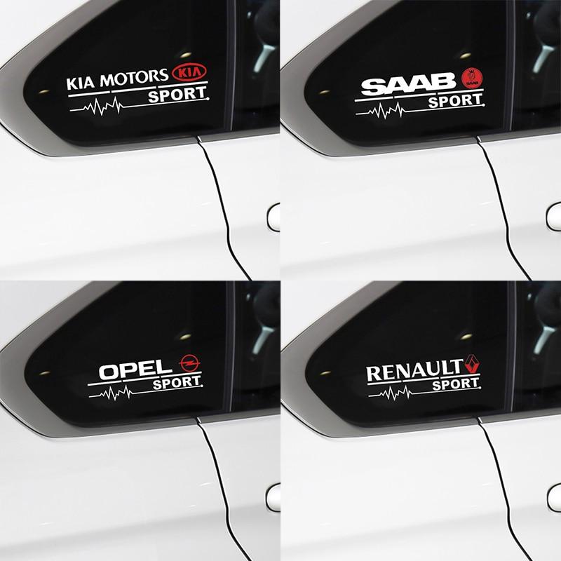 2 шт. наклейка на автомобиль, наклейка на окна, украшение двери для BMW Audi Ford Toyota Honda Kia Suzuki Mercedes Fiat Volvo Renault Opel Suzuki Наклейки на автомобиль      АлиЭкспресс