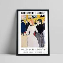 1976 Vintage French Exhibition Poster, Toulouse Latrec Moulin Rouge: La Goulue And Her Sister Art Prints, Impression Home Decor