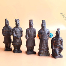 China Antique Terracotta Army Soldier Sculpture Qin Dynasty Warriors Model Handmade Crafts Gift