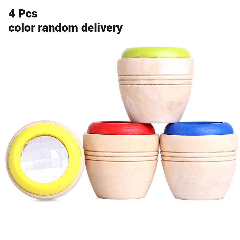 4 pz/lotto Caleidoscopio di Legno Giocattoli Educativi per bambini di Apprendimento Di Puzzle Giocattolo Adulto Divertente Giocattolo Per Bambini classici giocattoli educativi