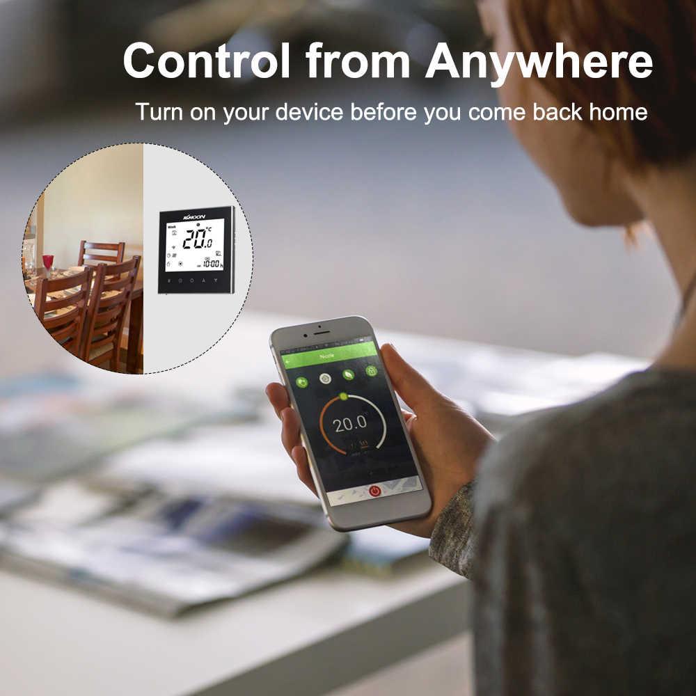 KKmoon termostatları dijital yerden WiFi ısıtma termostatı isıtma termostatı hava sensörü odası sıcaklık kontrol cihazı