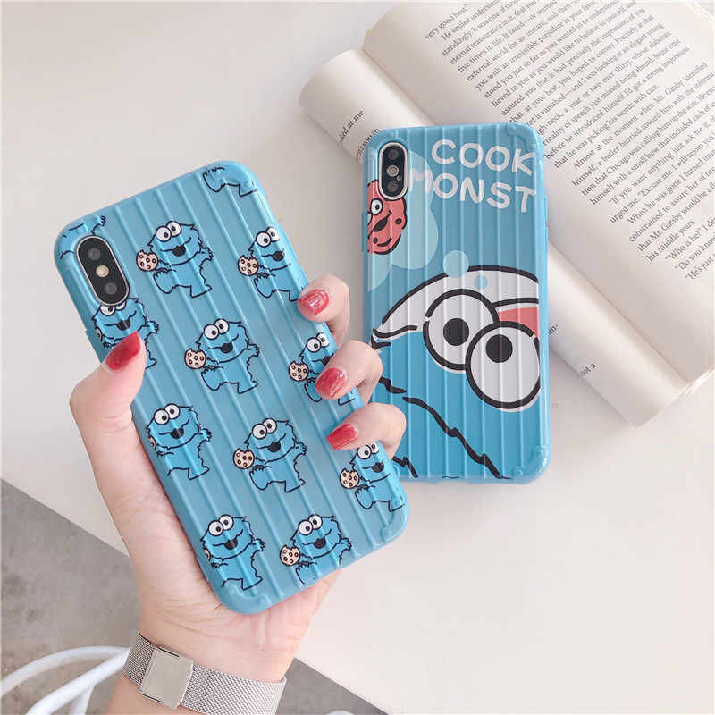 HYSOWENDLY Elmo Monsters Travel Luggage Phone Cases for OPPO A3 A5 A7 A9 K3 Realme R11 R11s R15 R15X R17 Reno Soft Silicone Case