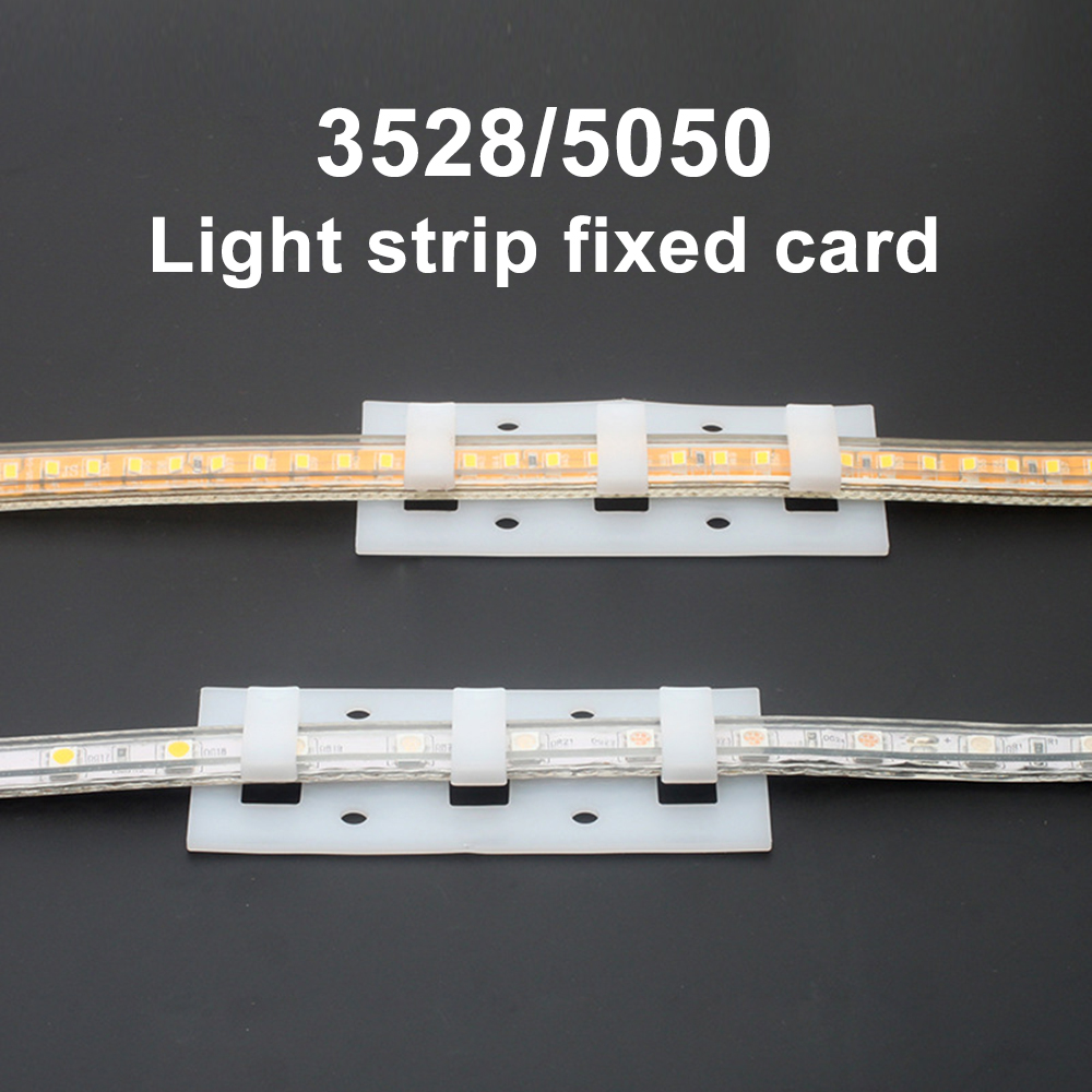 5/10Pcs 18MM Led Strip Clip With Screws For SMD 3014 3528 2835 5050 LED Strip Fixed Card Flexible LED Tape Mounting Clip Buckle