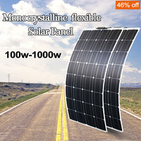 100w Solar panel 200W to 1000w Semi Flexible Solar Panel Mono Cell For RV Boat Yacht Car Caravan Charger