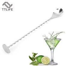 TTLIFE нержавеющий стальной Резьбовой стержень ложка свинарная палочка кофе Коктейль Мохито ложки для вина барная посуда инструменты бармена аксессуары