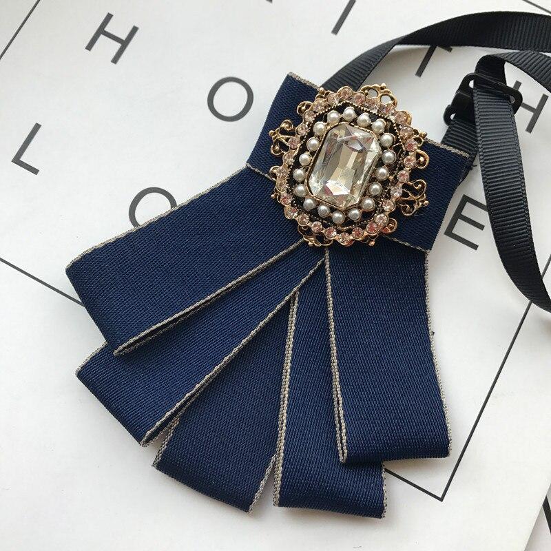 I-Remiel Bridegroom Wedding Flower Rhinestone Bow Ties Accessories For Men School Uniform Tie Collar Shirt Tuxedo British Style