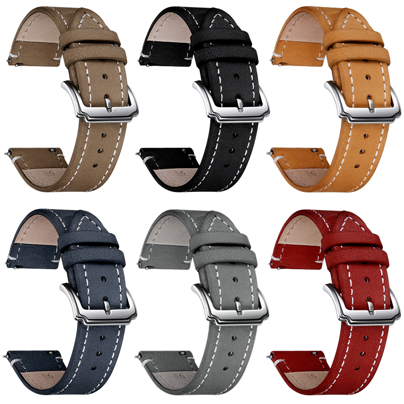 Crazy-horse Leather Strap For Huawei Watch GT 2 Watchband 42- 46mm For Honor Magic Watch 2/Huawei GT Replacement Wristband Belt