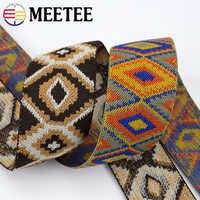 3/5Meter Meetee 50mm Elastische Band Gummiband Gurtband Hosen Taille Bindung Bänder für Rock Taschen Gürtel nähen Kleidung Zubehör