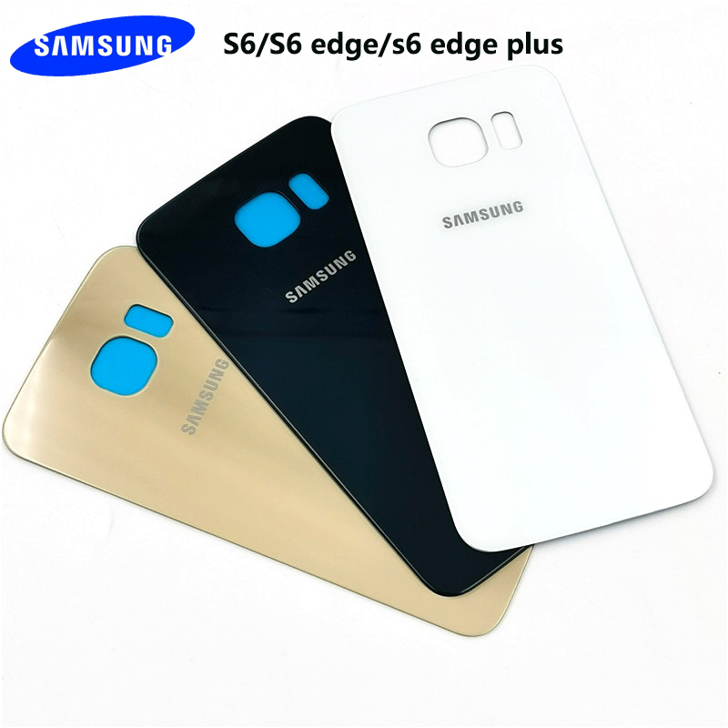 Оригинальный чехол для samsung galaxy s6 edge plus, стеклянная задняя крышка с аккумулятором, защитный Сменный Чехол для galaxy s6, s6 edge с клеем