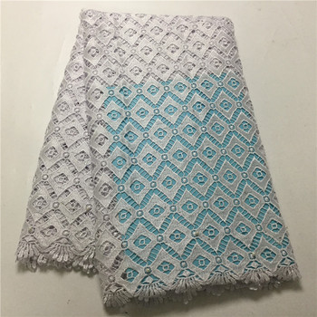 Embroidery Guipure Cord Lace Fabric High Quality White Color African Lace Fabrics Latest Nigerian Guipure Lace Fabrics plg82-718