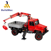 BuildMoc Police Station truck model Building Blocks City machine Helicopter Car Bricks Educational Toy For Children bevle gudi 9316 city police series mobile police station model building blocks bricks model bricks gift for children city toys