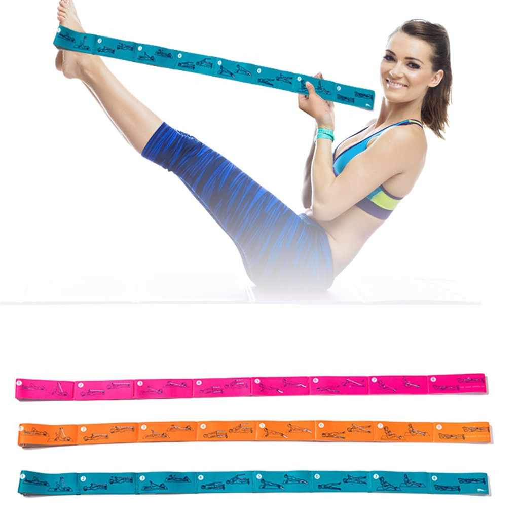 Stretch band for Yoga polyester strap elastic latex for Latin Dance stretch band for Yoga Pilates gym Fitness exercise