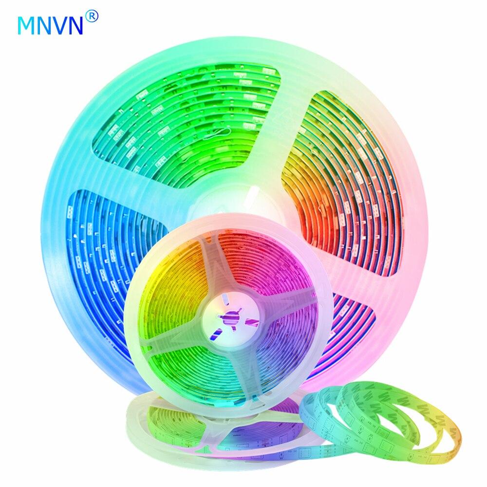 Tiras de led bluetooth luz 5m 20m rgb 2835 smd 5050 impermeável diodo fundo tv decoração vídeo tiro sutable para tik tok