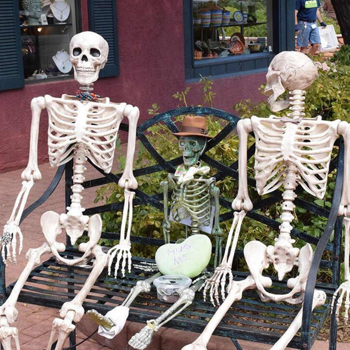 170CM Skeleton Human Halloween Prop PVC Skeleton Bones Horror Human Bones  For House Party Halloween Decoration 2019 New