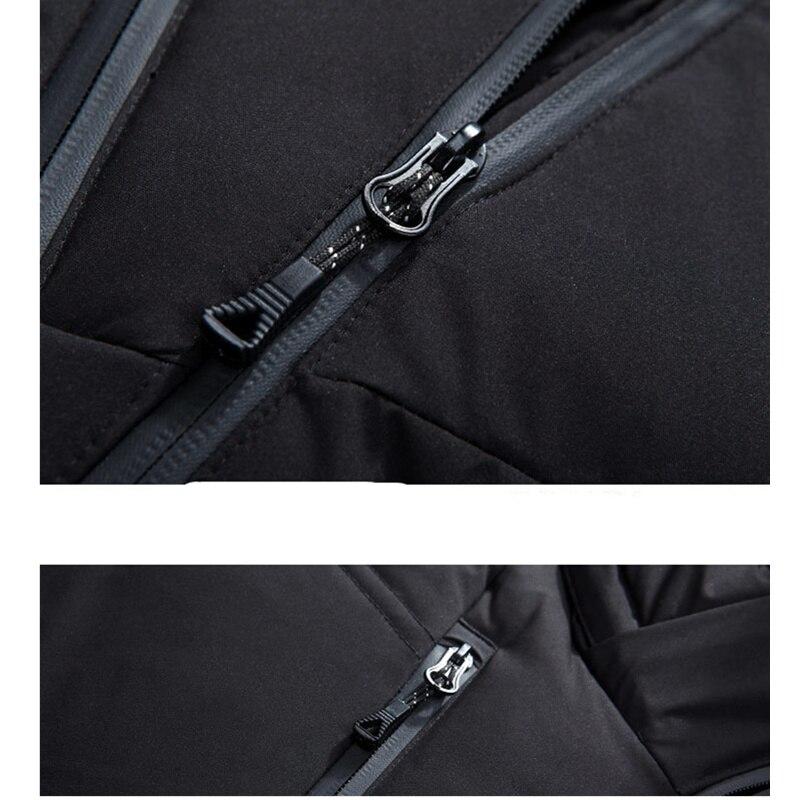 Image 5 - FGKKS качественный брендовый мужской пуховик, мужской тонкий  толстый теплый однотонный пуховик с капюшоном, модные повседневные  мужские пуховикиПуховики