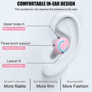 Image 3 - TWS Bluetooth 5.0 EarPhone Wireless Headphone 9D Stereo Sports Waterproof Pink Women Earbuds Headsets With Mic For IOS Android