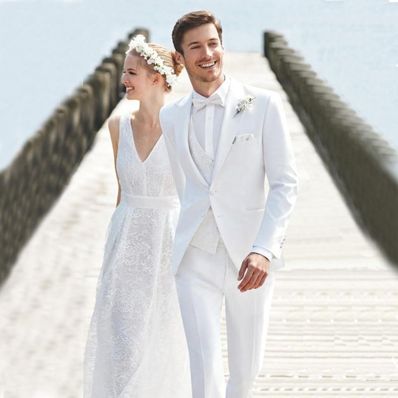 Men Suits For Wedding Bridegroom Groom Prom Costume Slim Fit Formal Blazer Custom Tuxedo Terno Masculino Best Man 3Pieces