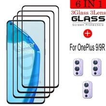Vidro temperado para oneplus 9 à prova de explosão protetor de tela de vidro para oneplus 9r filme de câmera para oneplus 9 r 1 + 9 r