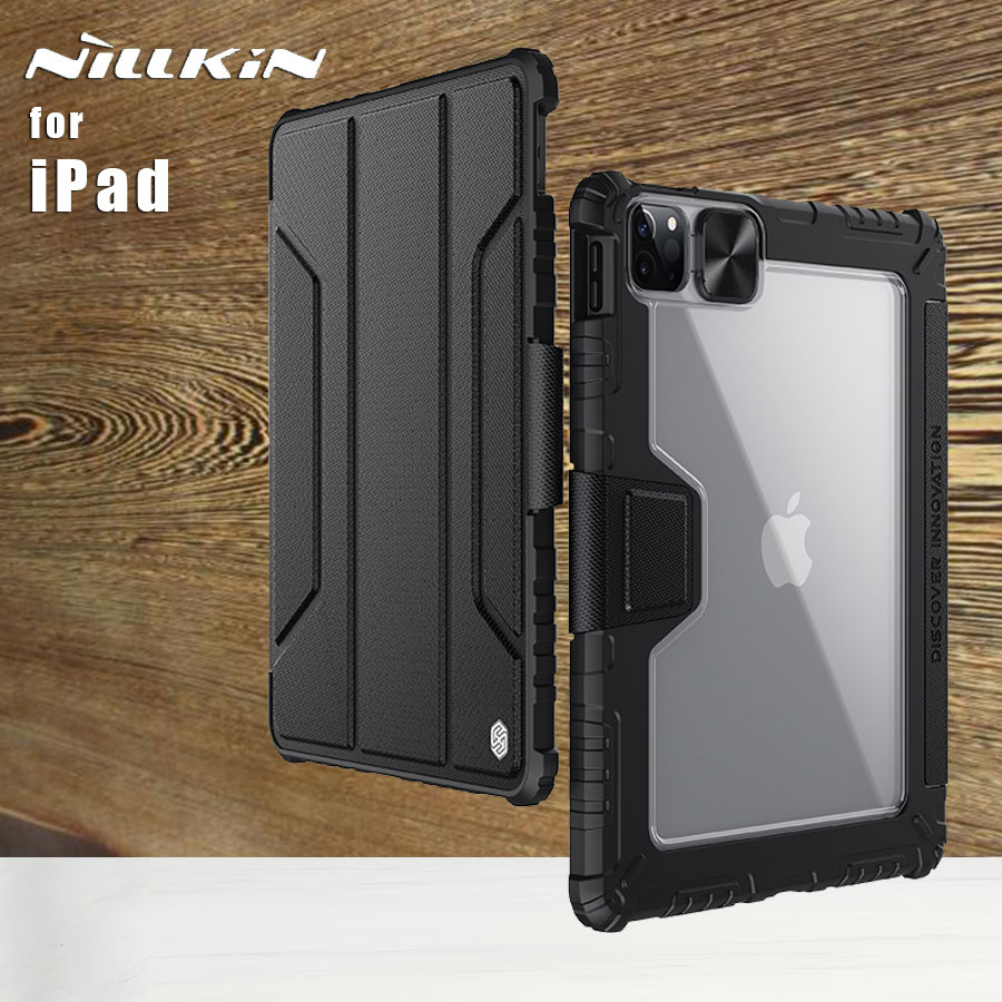 Nillkin для Apple iPad Air 10,9 воздуха 4 Pro 11 2021 2020 10,2 Pro 12,9 2021 2020 чехол бампер Флип кожаный чехол на заднюю панель