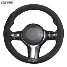 Couverture de Volant de voiture En Daim Noir Pour BMW M Sport F30 F31 F34 X5 F15 M50d X6 F16 M50d F20 F21 M135i M140i F32 F33 F36 X1 F48