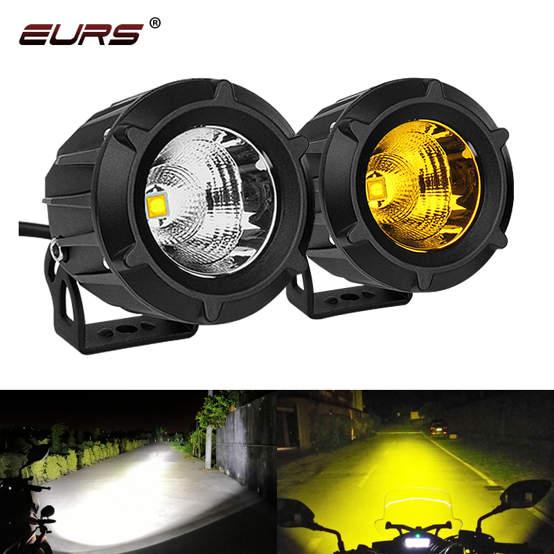 EURS 1Pcs 25W LED Motorcycle Headlight 3000LM Led Motor Light 10-30V Car Led Fog Lamp Universal Waterproof Motorbike Bulb