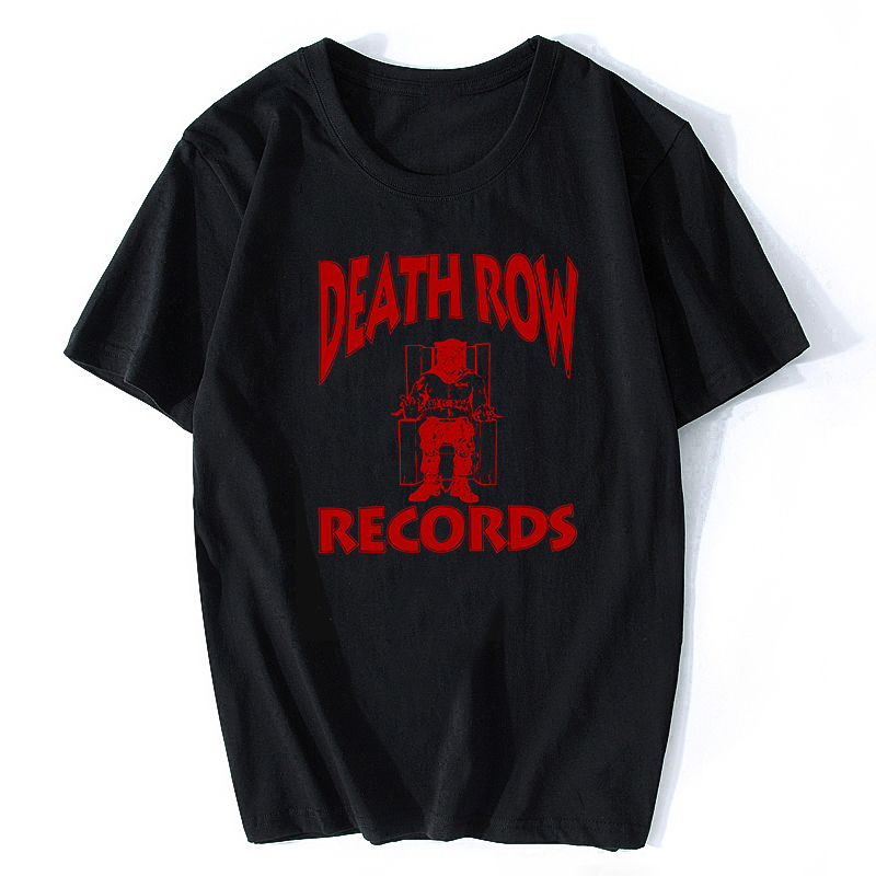 DEATH ROW RECORDS T Shirt Men  High Quality Aesthetic Cool Vintage Hip Hop T-shirt Harajuku Streetwear Camisetas Hombre