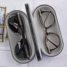Высокое качество многофункциональный двойной прослоенный Металлический Чехол для очков для комплекта держатель коробка двойного назначения Кожаный Чехол для очков для чтения