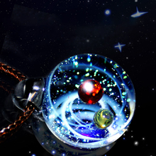 Wonder New Luxury Nebula Galaxy Pendant Necklace Universe Planet Jewelry Glass Art Picture Handmade Statement Necklace Brand 2019 new dream nice nebula necklace various galaxy space pattern glass alloy necklace pendant solar system popular jewelry