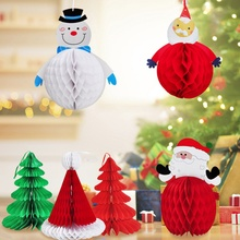 Get more info on the Unique Santa Claus Paper Ball Pull Flower Christmas Tree Pull Flower Decoration Festive Party SuppliesCM
