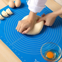 Silicone Kitchen Kneading Dough Mat Cookie Cake Baking Mat Tools Thick Non-stick Rolling Pastry Accessories Sheet Padsreusable