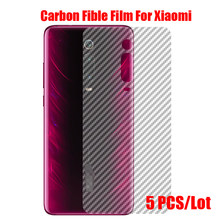 5Pcs Carbon Fiber Back Screen Protector Film Sticker For Xiaomi Mi 4C 5C 8 8SE 8 Lite Pro 9 9SE 9T Pro Lite CC9 CC9E Back Film(China)