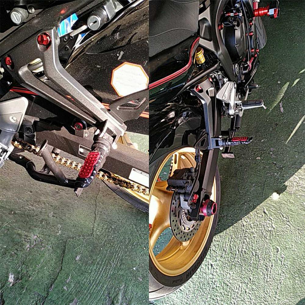 Piede Pedali Universale Pedane in Alluminio di Moto Bici