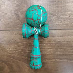 Image 5 - 18CM Riss Farbe Holz Kendama Ball Geschickte Jonglierball Spielzeug Japanischen Traditionellen Zappeln Ball Kinder Erwachsene Freizeit Sport Geschenk