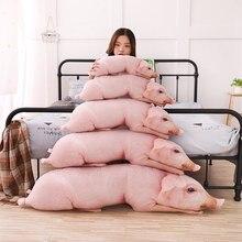 Simulado dormir porco pelúcia travesseiro animais enchidos travesseiros crianças adultos animais de estimação reforçar sofá cadeira decoração amigo presente 50/70/90/120cm