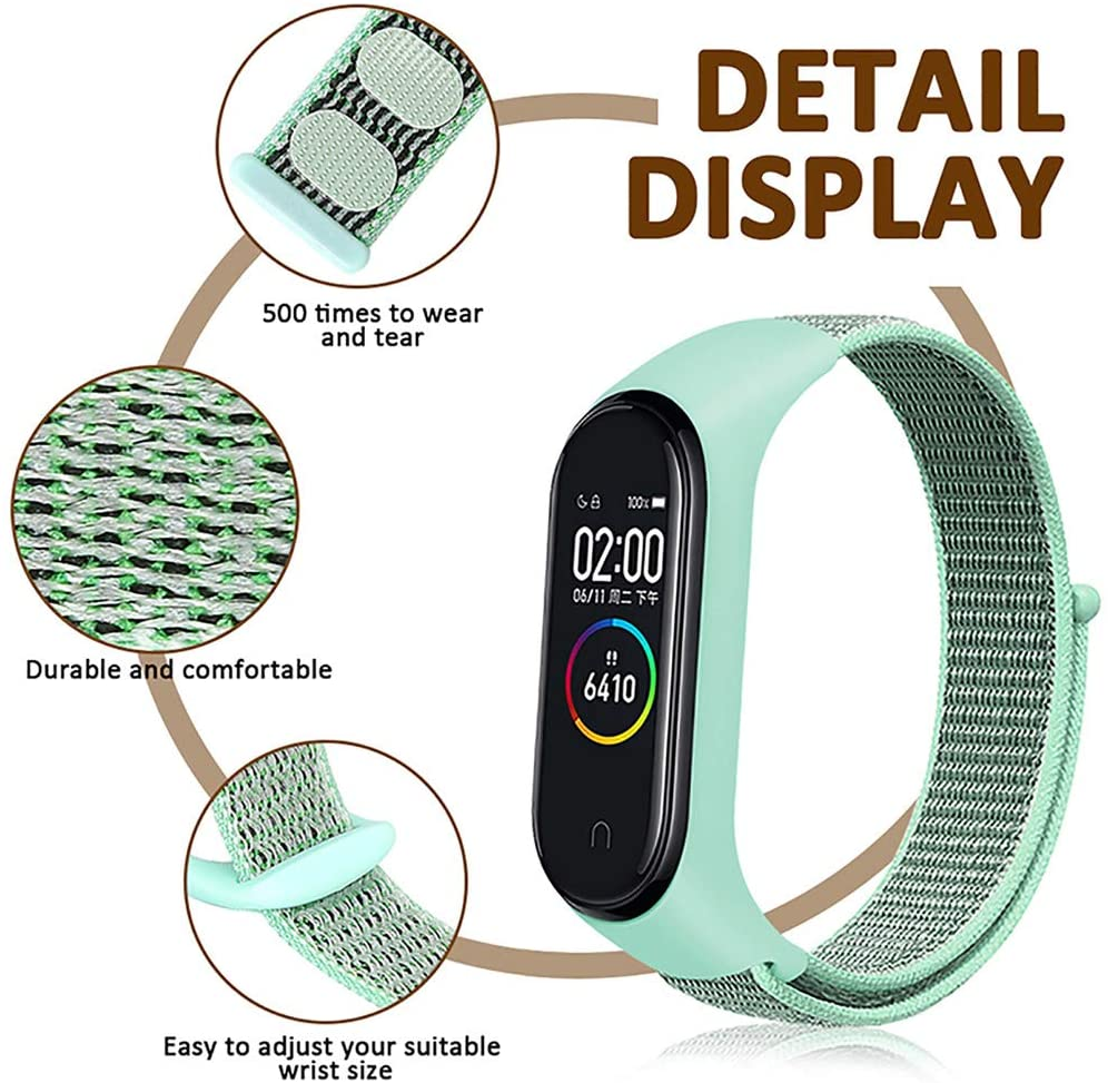 Bracelet For Xiaomi Mi Band 4 Band Breathable Nylon Sports Loop Watchband MiBand4 Band4 Miband 3 Mi Band 4 Strap