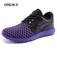 ONEMIX Fashion 2020 Outdoor Women White Sneakers High Quality Casual Breathable Shoes Mesh Soft Jogging Tennis Mens Shoes Summer