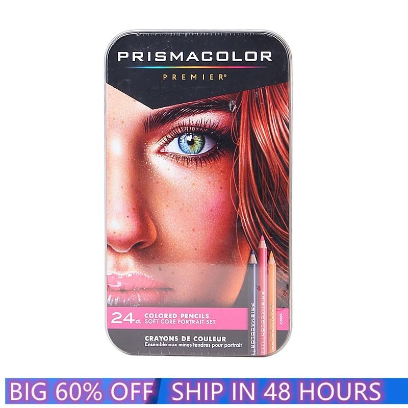 США Prismacolor Premier 24 цвета кожи цвет Портрет карандаш жирной мягкий большое ядро карандаши для рисования Санфорд Prismacolor карандаш художника