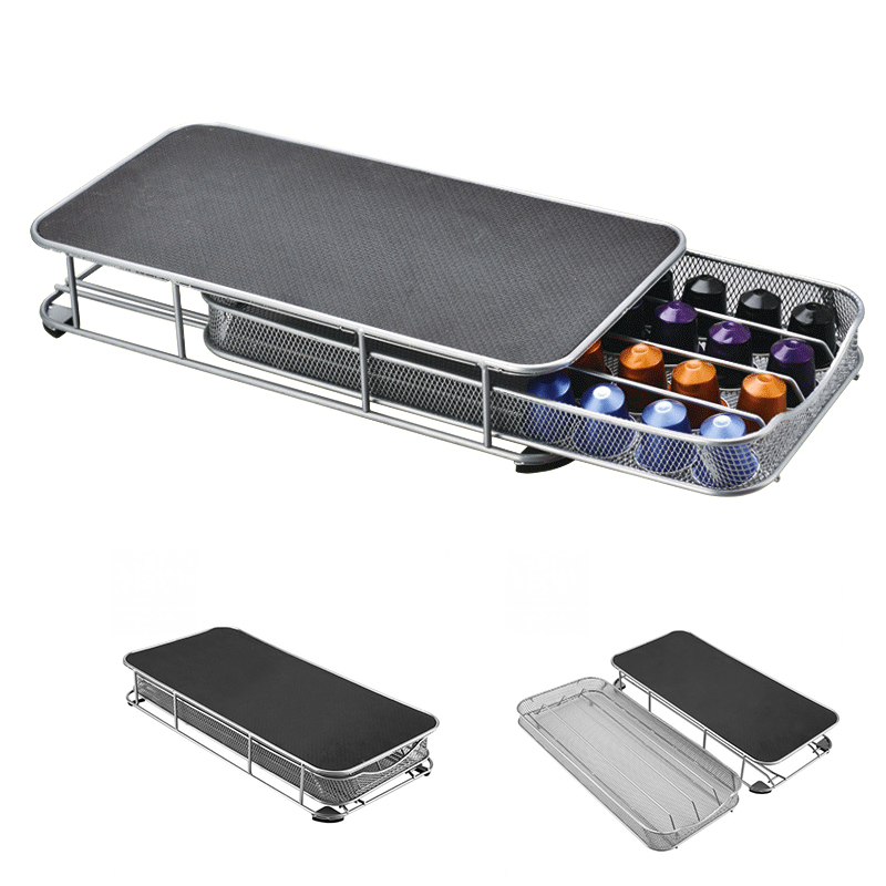 Office 40 Coffee Pods Holder 37.5 x 18.5 x 6.2 cm // 14.76 x 7.28 x 2.44 inch Mesh Drawer Made of Mental for Home
